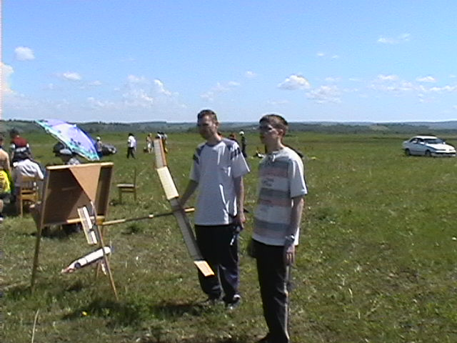 педагоги-авиамоделисты: Балаболин Сергей и Урусов Владимир