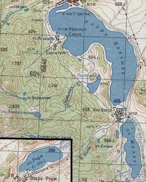 Карта озер шарыповского района